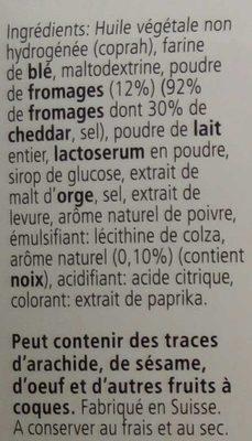 Les Dentelles Cheddar saveur noix - Ingrédients - fr