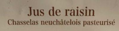 Mout de raisin - Ingredients - fr