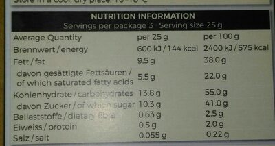 Vegan-hell clair classic - Nutrition facts