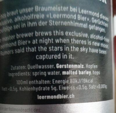 Leermond Bier Alkoholfrei - Ingredienti - fr