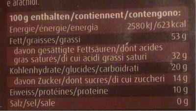Mascao noir 85% - Informations nutritionnelles - fr