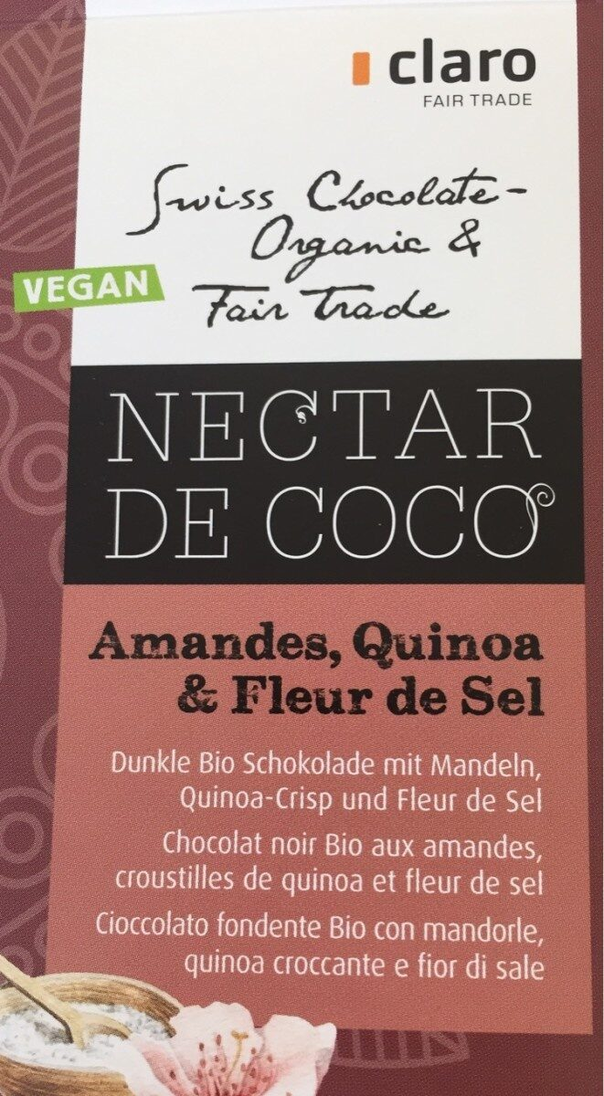 Chocolat noir bio - Produit