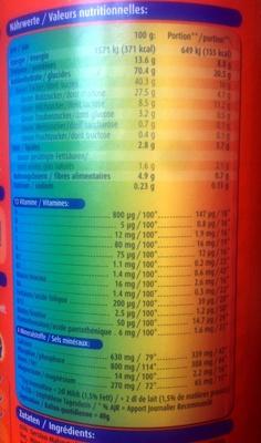 Ovomaltine - Informations nutritionnelles - fr