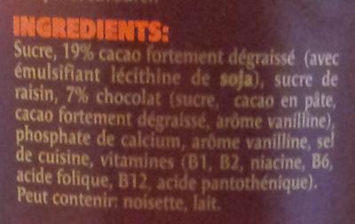 Chocolat suisse pure sensation - Ingrédients - fr
