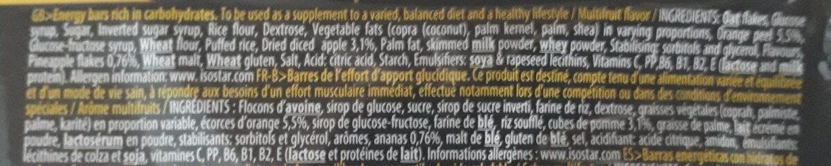 Energy sport bar - Ingrediënten