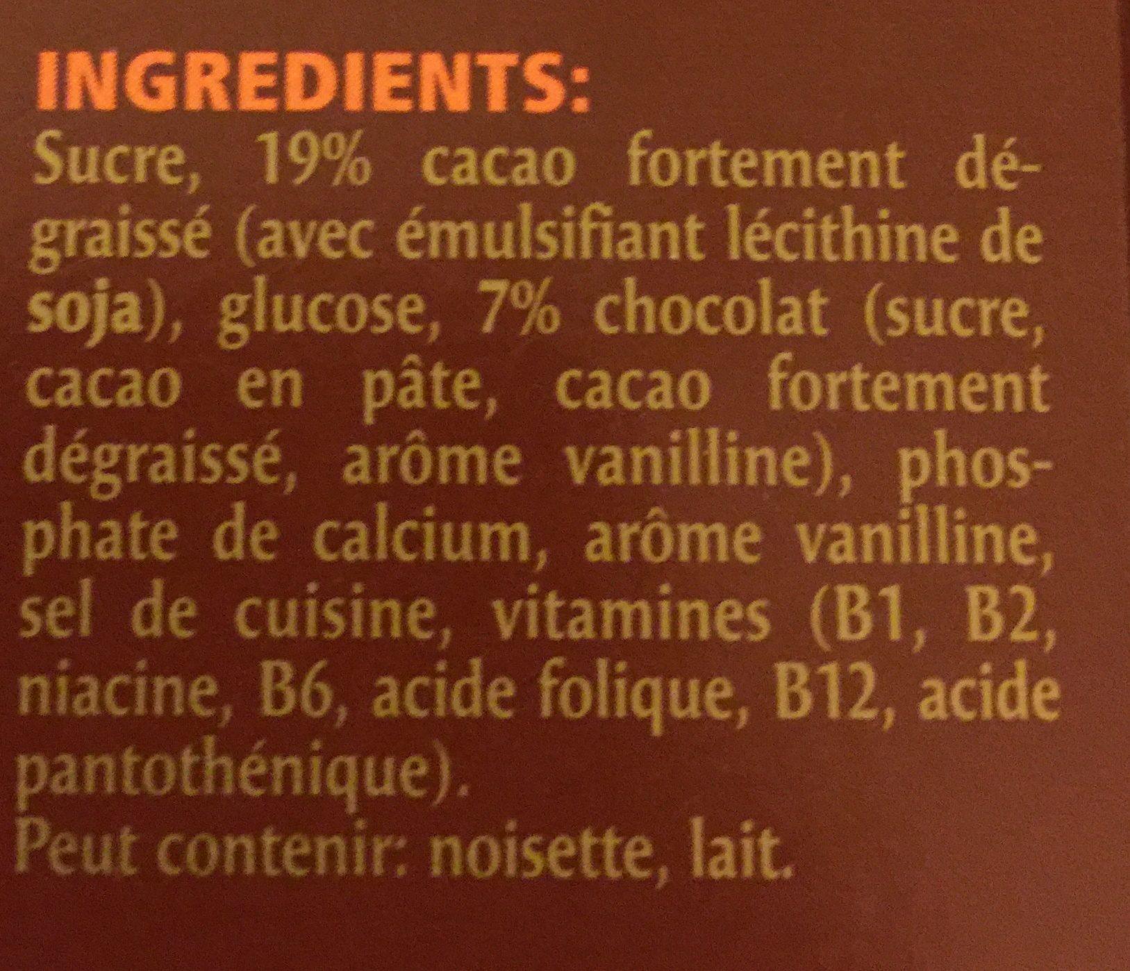 Caotina Surfin - Ingredients - fr