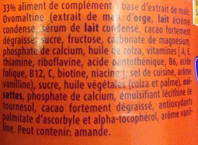 Ovomaltine Crunchy Cream - Ingrediënten