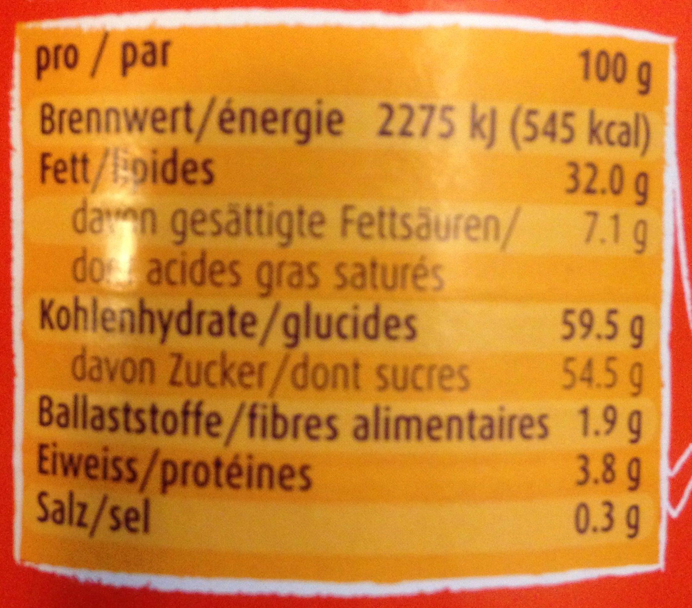 Ovomaltine Crunchy Cream - Voedigswaarden