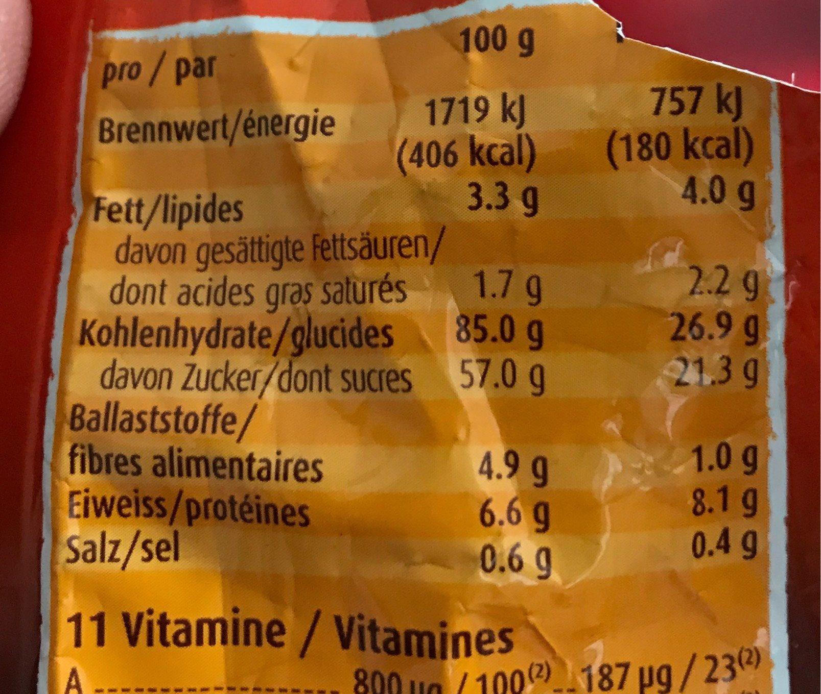 Ovomaltine Choco - Valori nutrizionali - fr