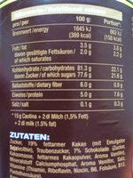 Original Caotina - Informations nutritionnelles - de