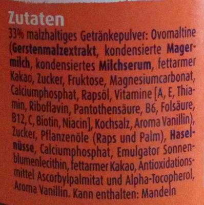 Ovomaltine crunchy cream - Ingredienti - de