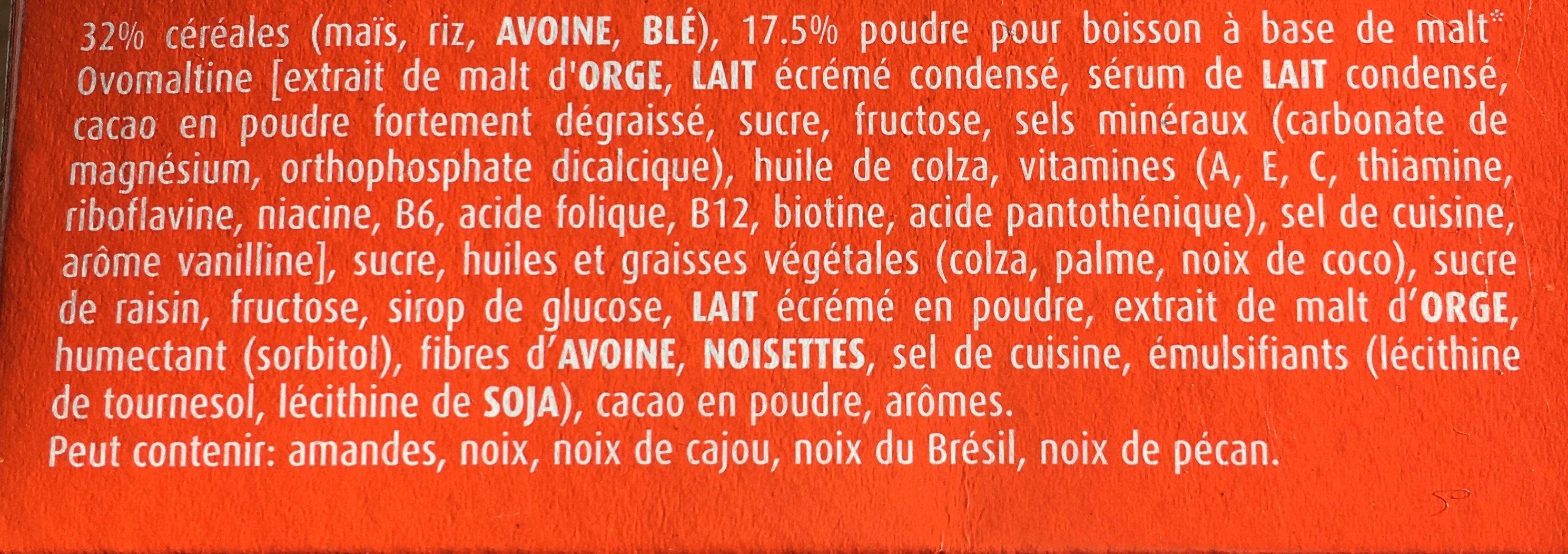 Crisp muesli snack - Ingredients