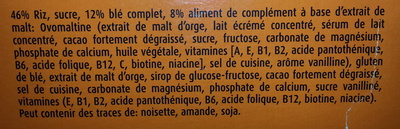 Ovomaltine flakes - Ingredients