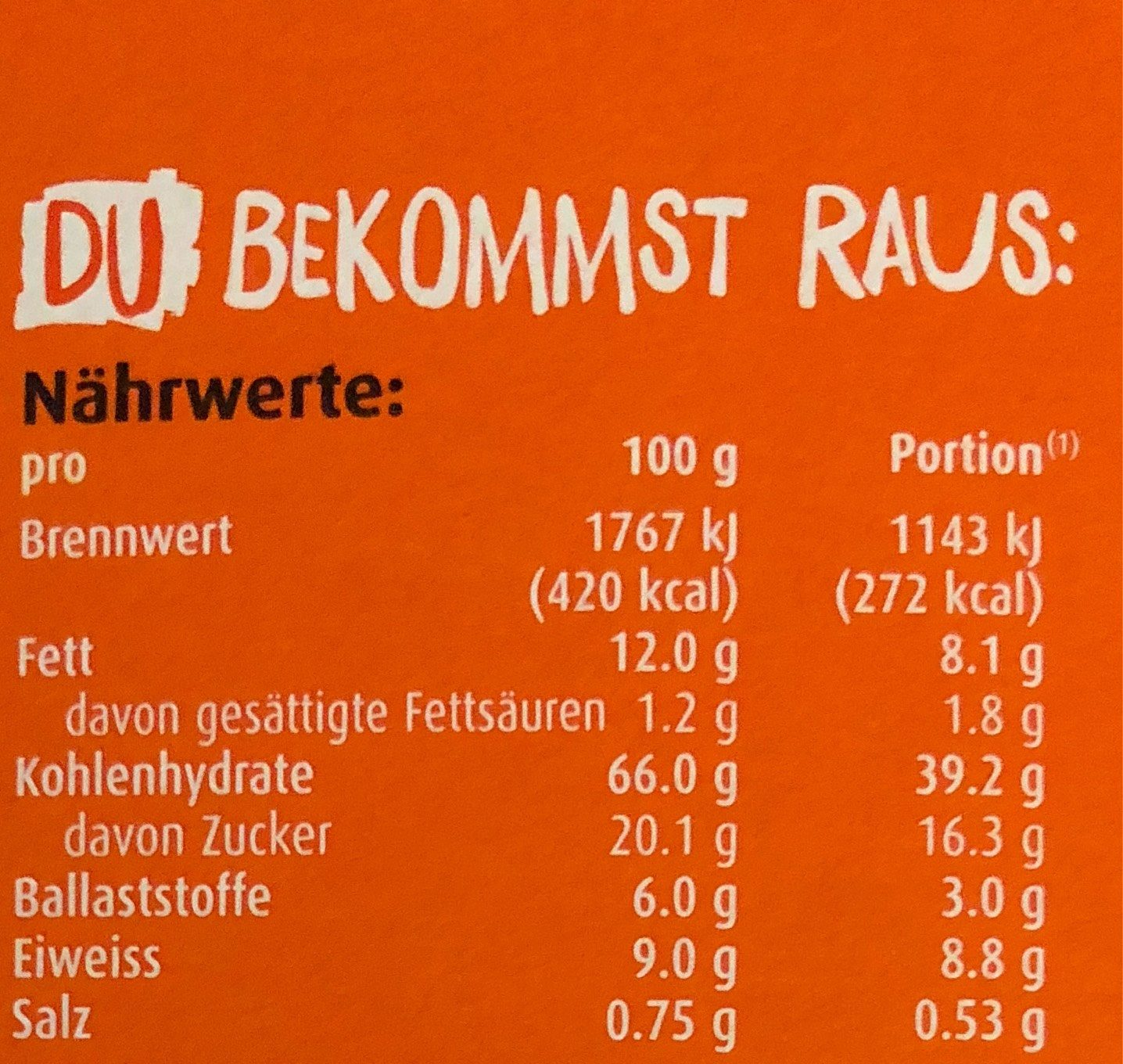 Ovomaltine Crisp Müsli - Informations nutritionnelles - de