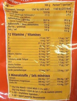 Muesli Croustilant - Informations nutritionnelles - fr