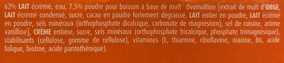 Ovomaltine, Plus - Ingredienti - fr
