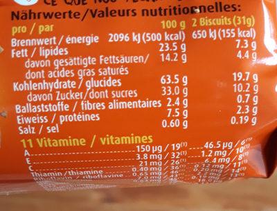 Ovomaltine Crunchy Biscuit - Informazioni nutrizionali - fr