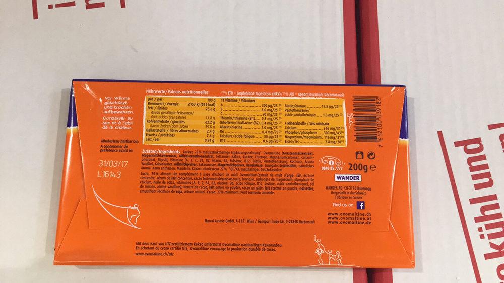 Ovomaltine Crunchy - Ingredienti - fr