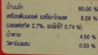 โอวัลติน ยูเอชที - Ingrediënten