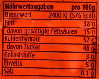 Ovolino - Nutrition facts