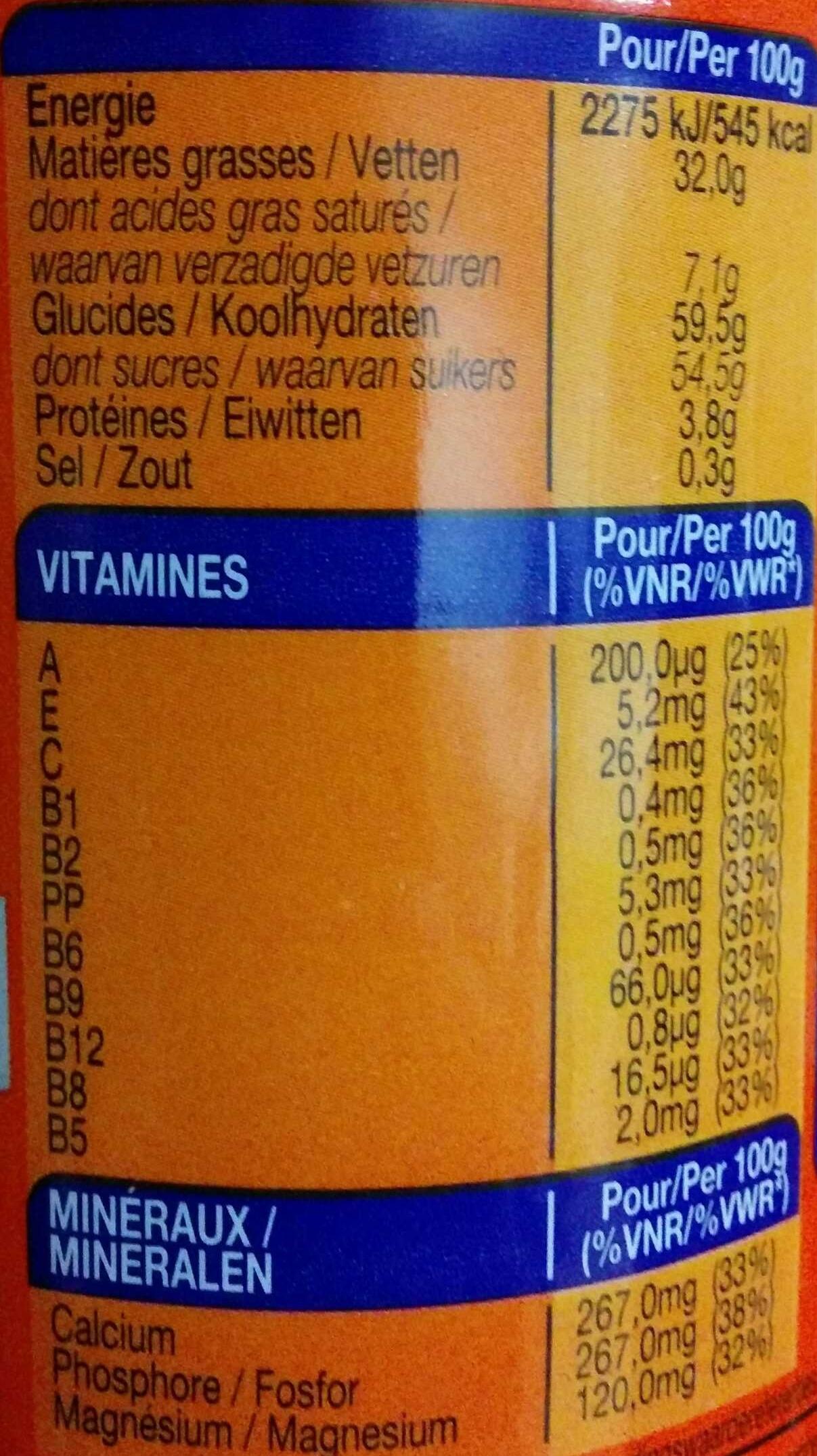 Ovomaltine Crunchy Cream - Valori nutrizionali - fr