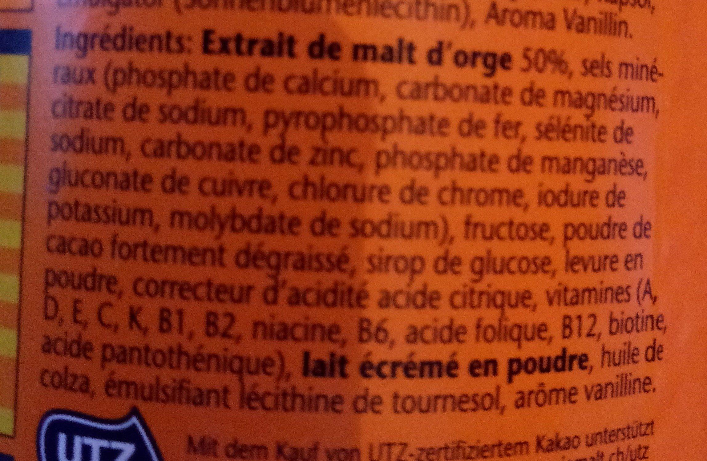 Jemalt 13 - Ingredienti - fr