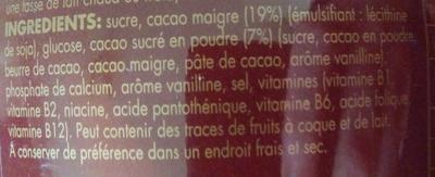 Surfin - Swiss premium chocolate drink - Ingrédients - fr