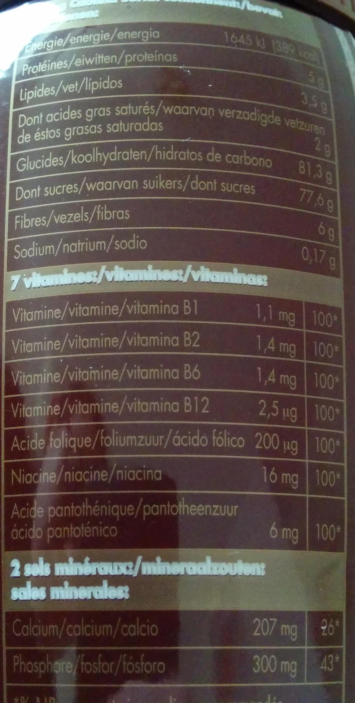 Surfin - Swiss premium chocolate drink - Informations nutritionnelles - fr
