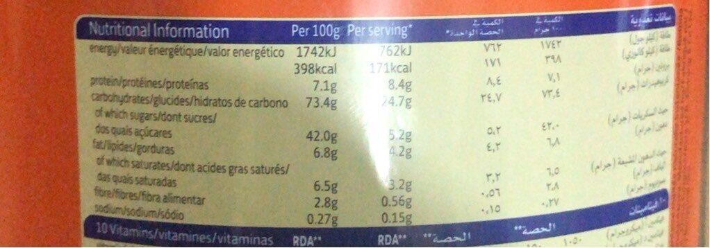 Olvatine - Informations nutritionnelles - fr