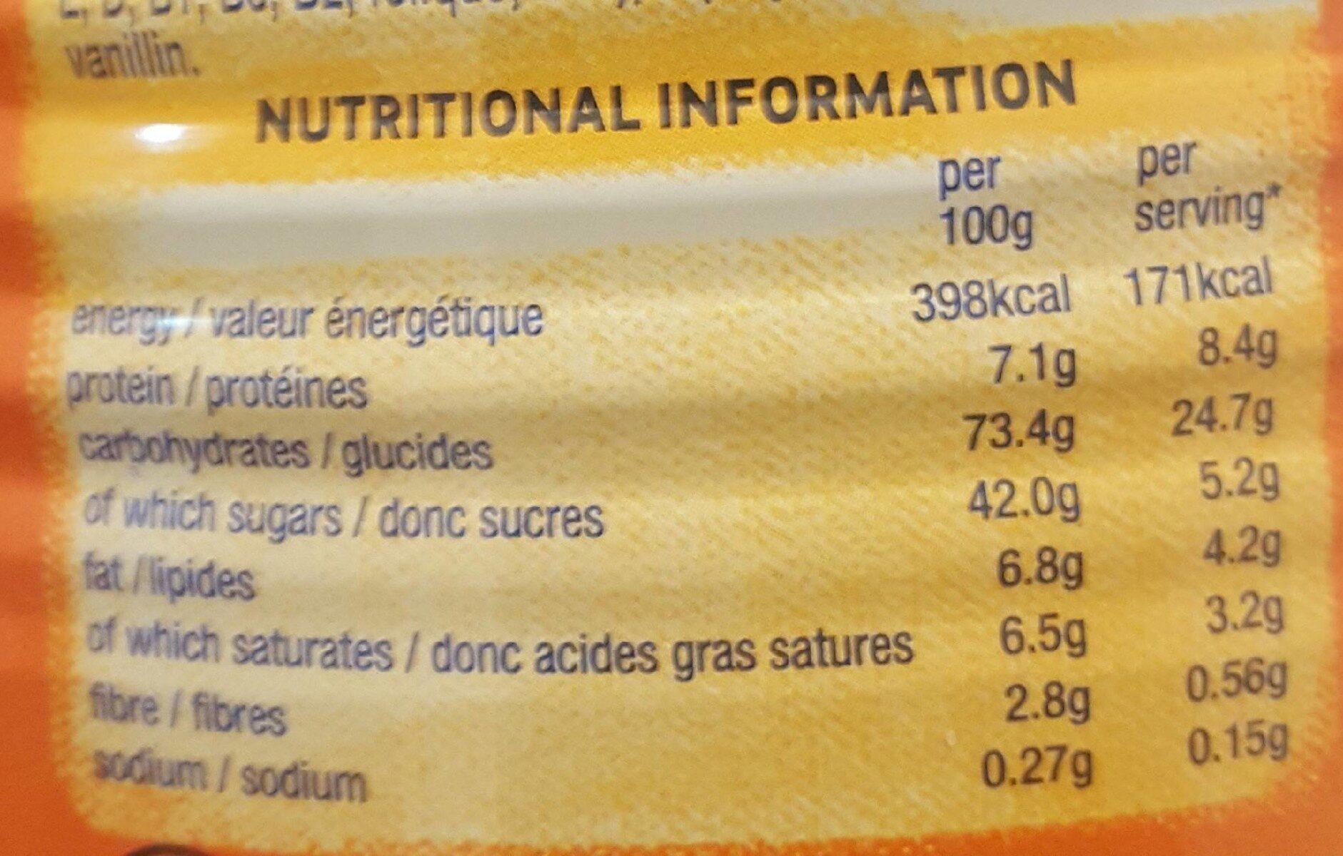 Ovaltine Tin 400G - Nutrition facts - en