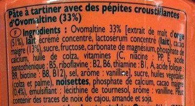 Crunchy - Pâte à tartiner - Ingredienti