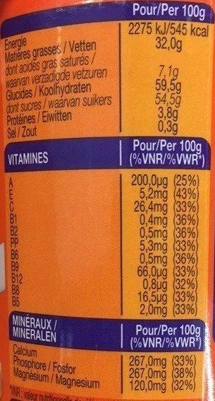 Crunchy - Pâte à tartiner - Nutrition facts - fr