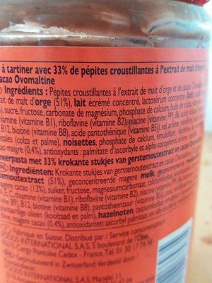 Ovomaltine crunchy - Ingrediënten - fr