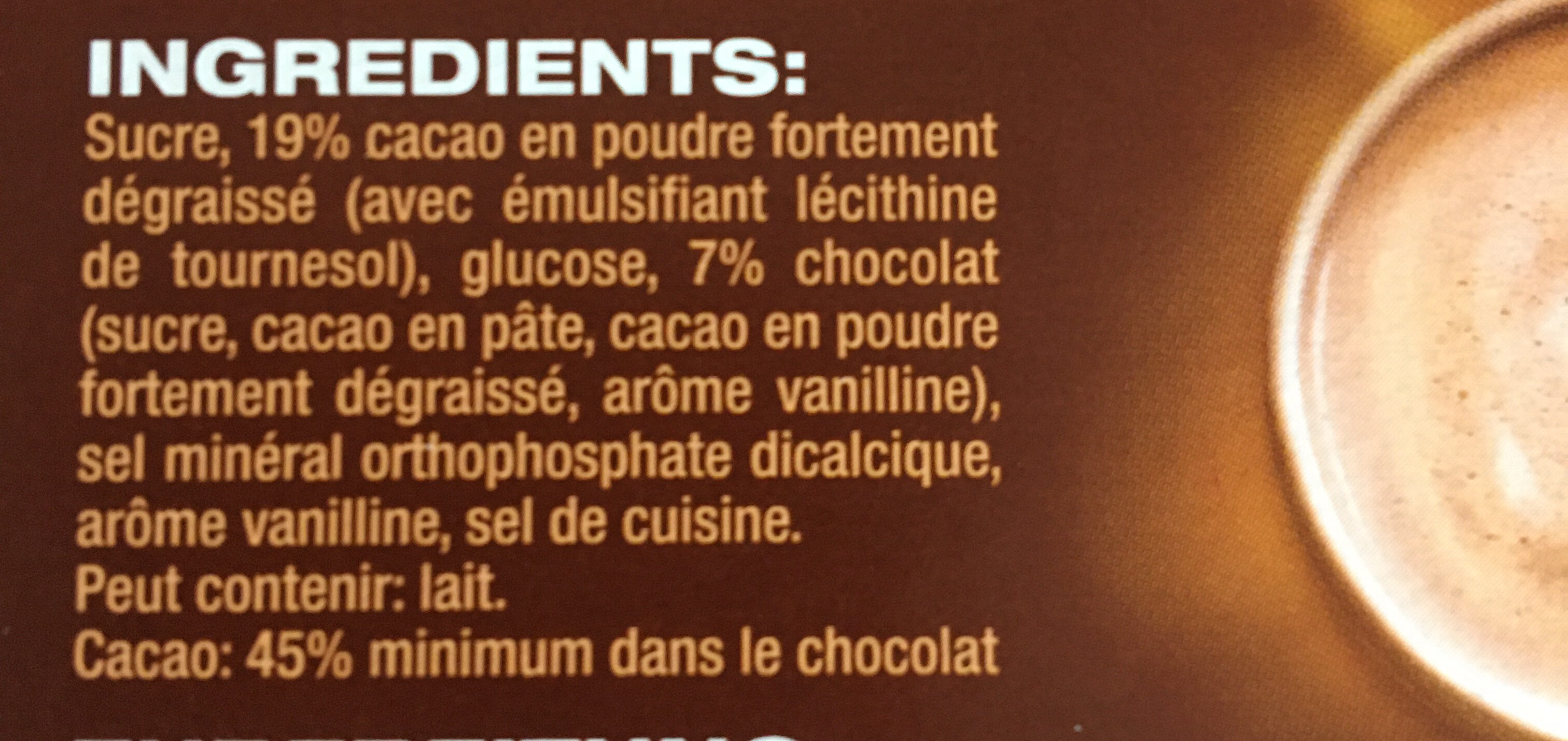 Caotina - Ingredienti - fr