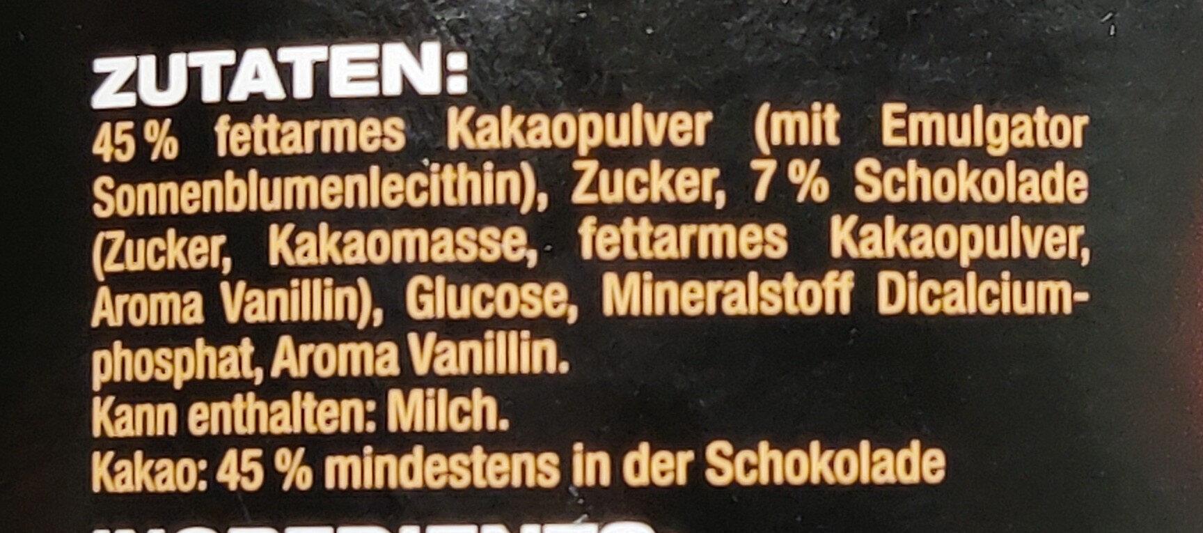 Caotina Noir - Ingredienti - de