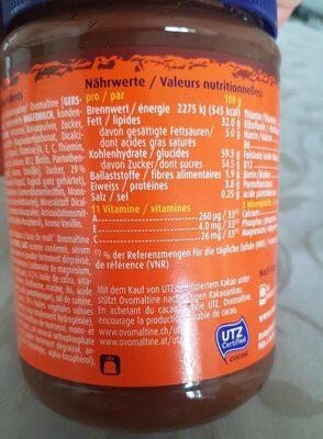 Ovomaltine crunchy cream - Informazioni nutrizionali - de