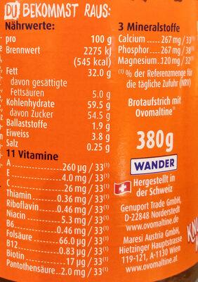 Ovomaltine Crunchy Cream - Valori nutrizionali - de