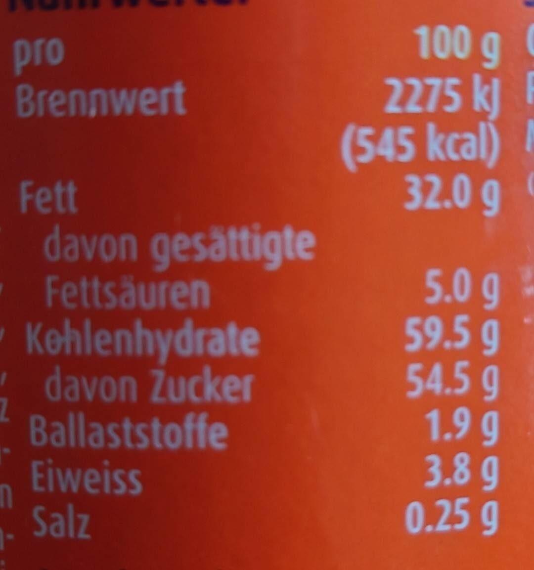 Ovomaltine crunchy cream - Nutrition facts - en