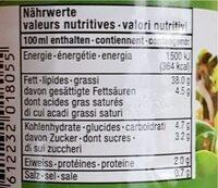 Französische Salatsauce - Nährwertangaben - de
