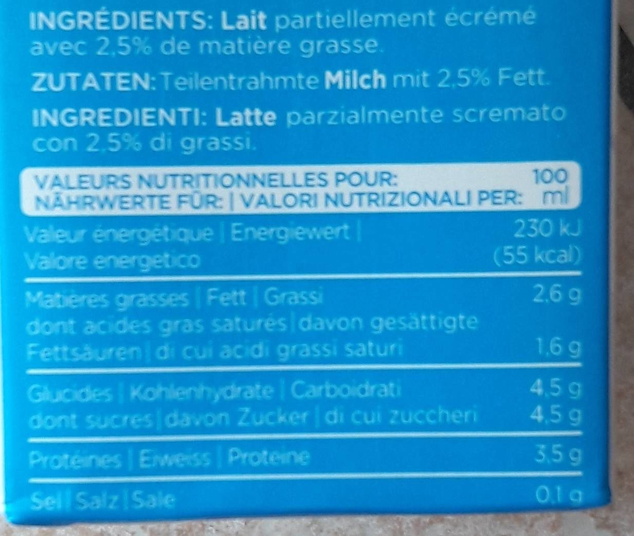 Lait drink - Nutrition facts
