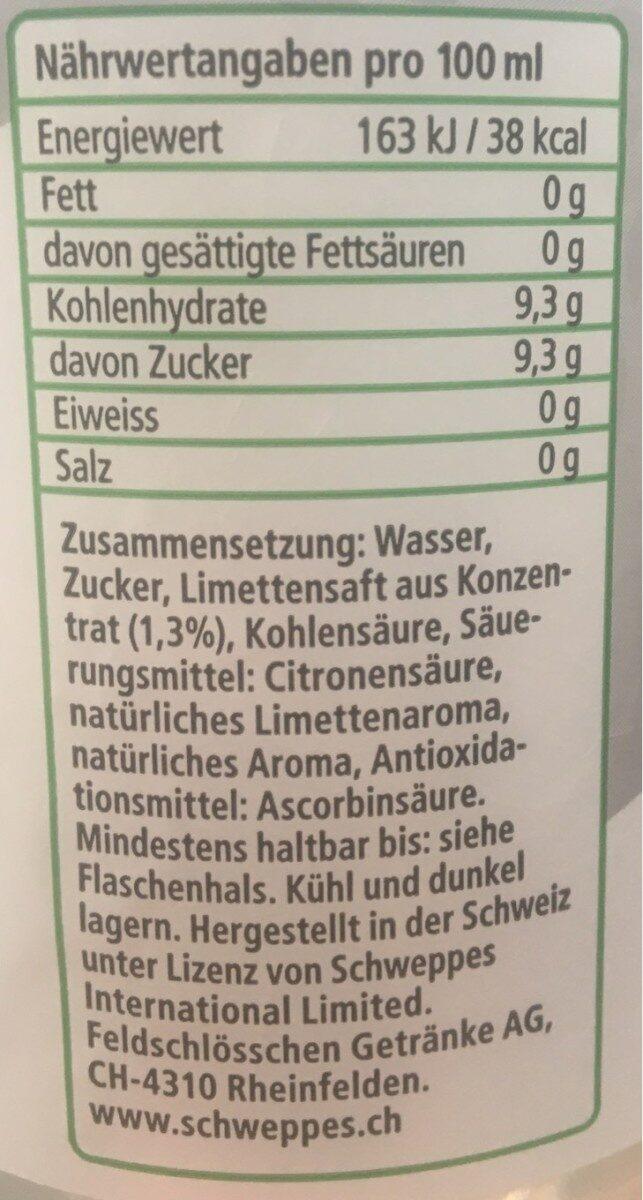 Schweppes Mojito Virgin - Valori nutrizionali - fr