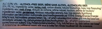 Carlsberg Alcohol-Free Low Cal - Ingrédients