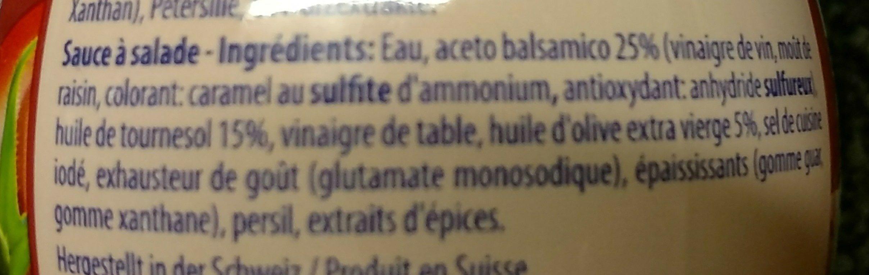 Thomy Dressing Olive Balsamico, Salatsauce - Ingredients