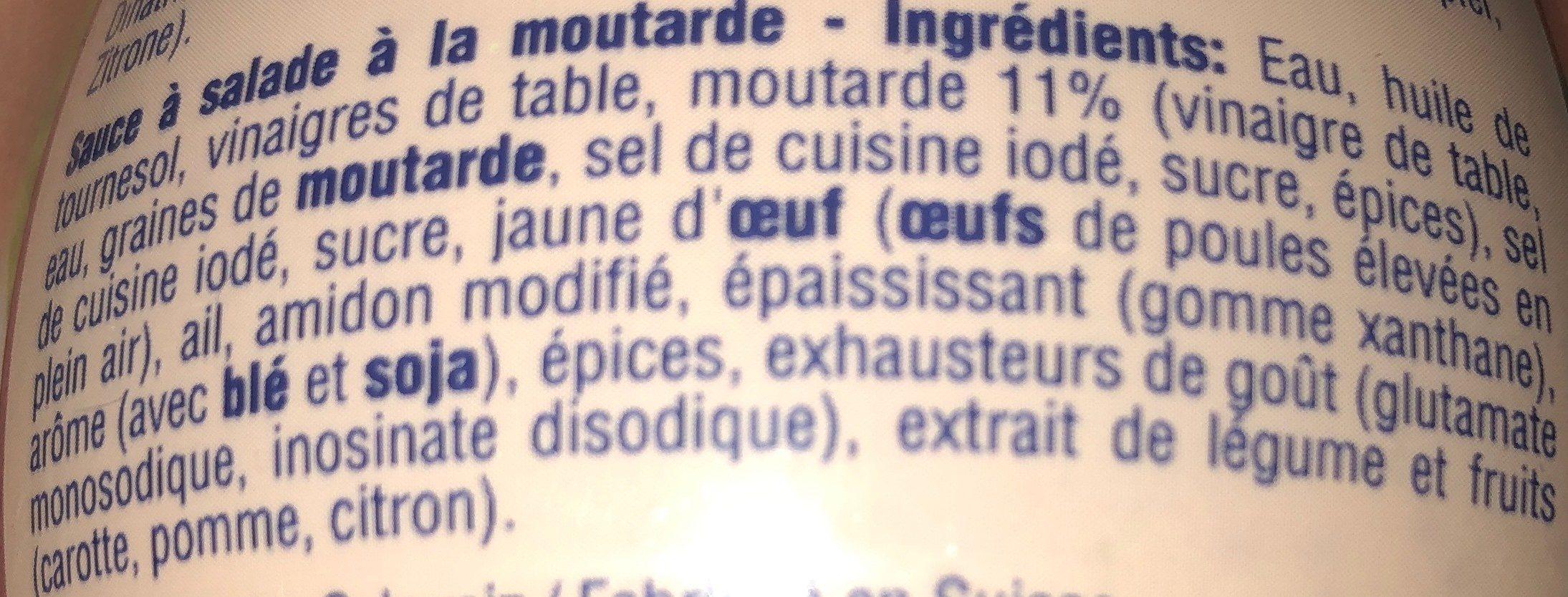 French Dijon à la moutarde gros grains - Ingrediënten - fr
