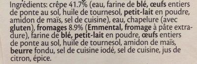 Délices au fromage - Ingrediënten