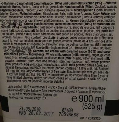 Caramelita - Ingredienti - en