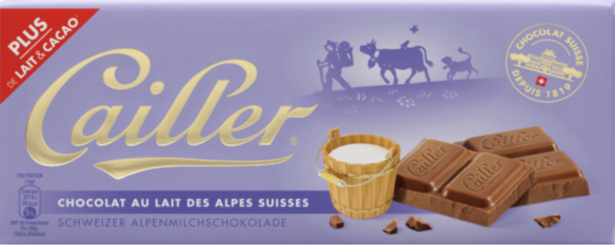 Chocolat au lait des Alpes suisses - Prodotto - fr