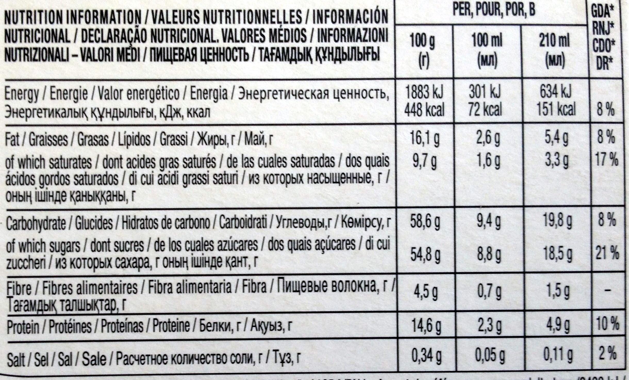 Nescafé Chococino - Nutrition facts