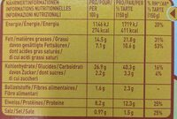 Findus Flammkuchen 300g - Nutrition facts