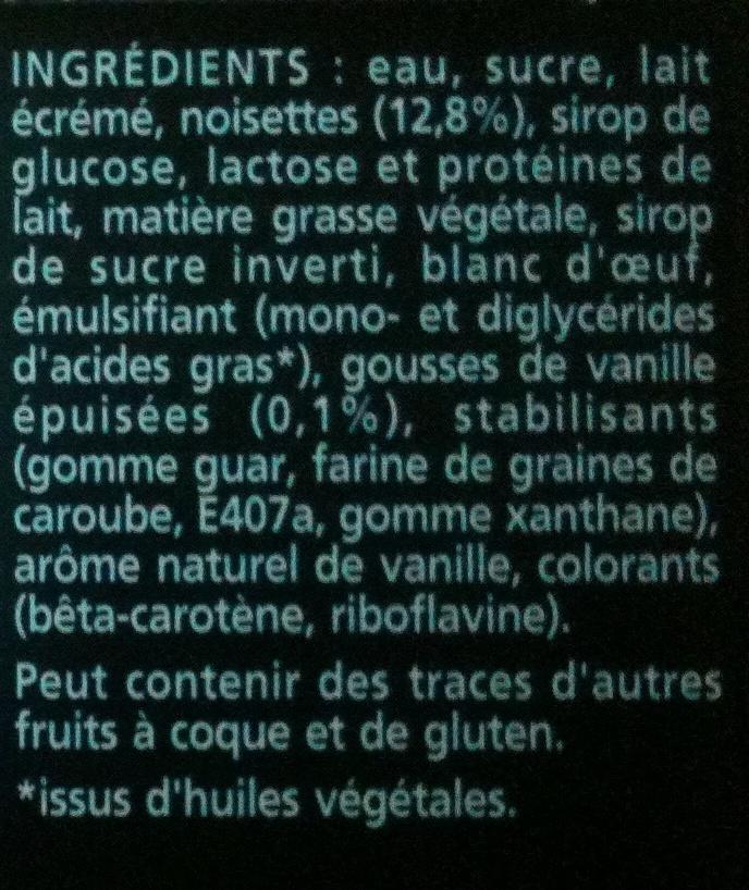 Mystère - Vanille Cœur Meringue - Ingrédients